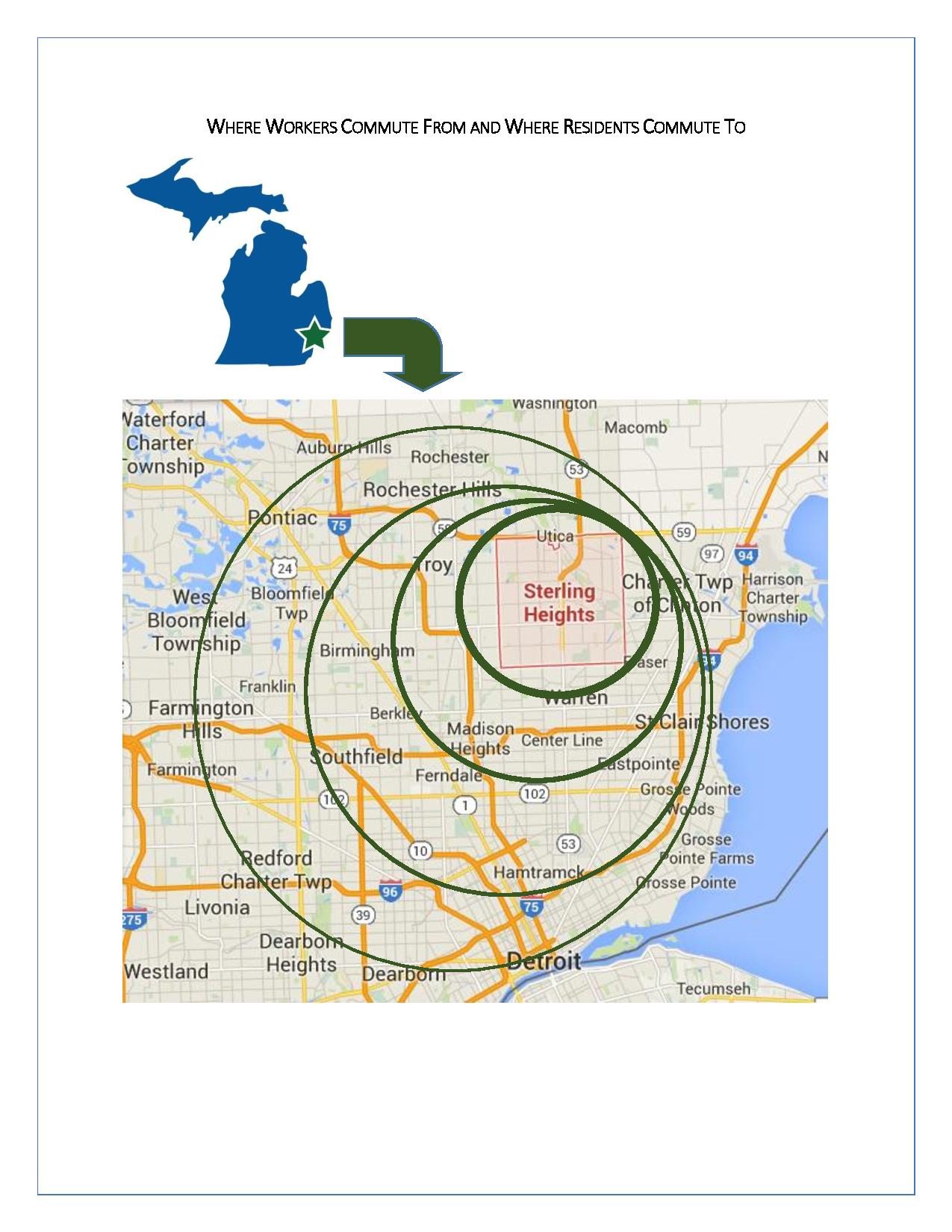 Sterling Heights Commuter Map