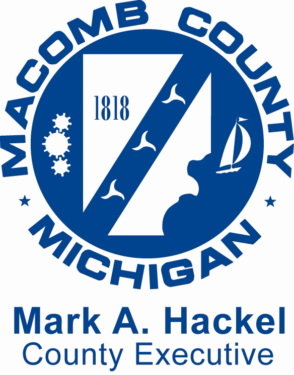 Macomb County Michigan Mark A. Hackel County Executive logo