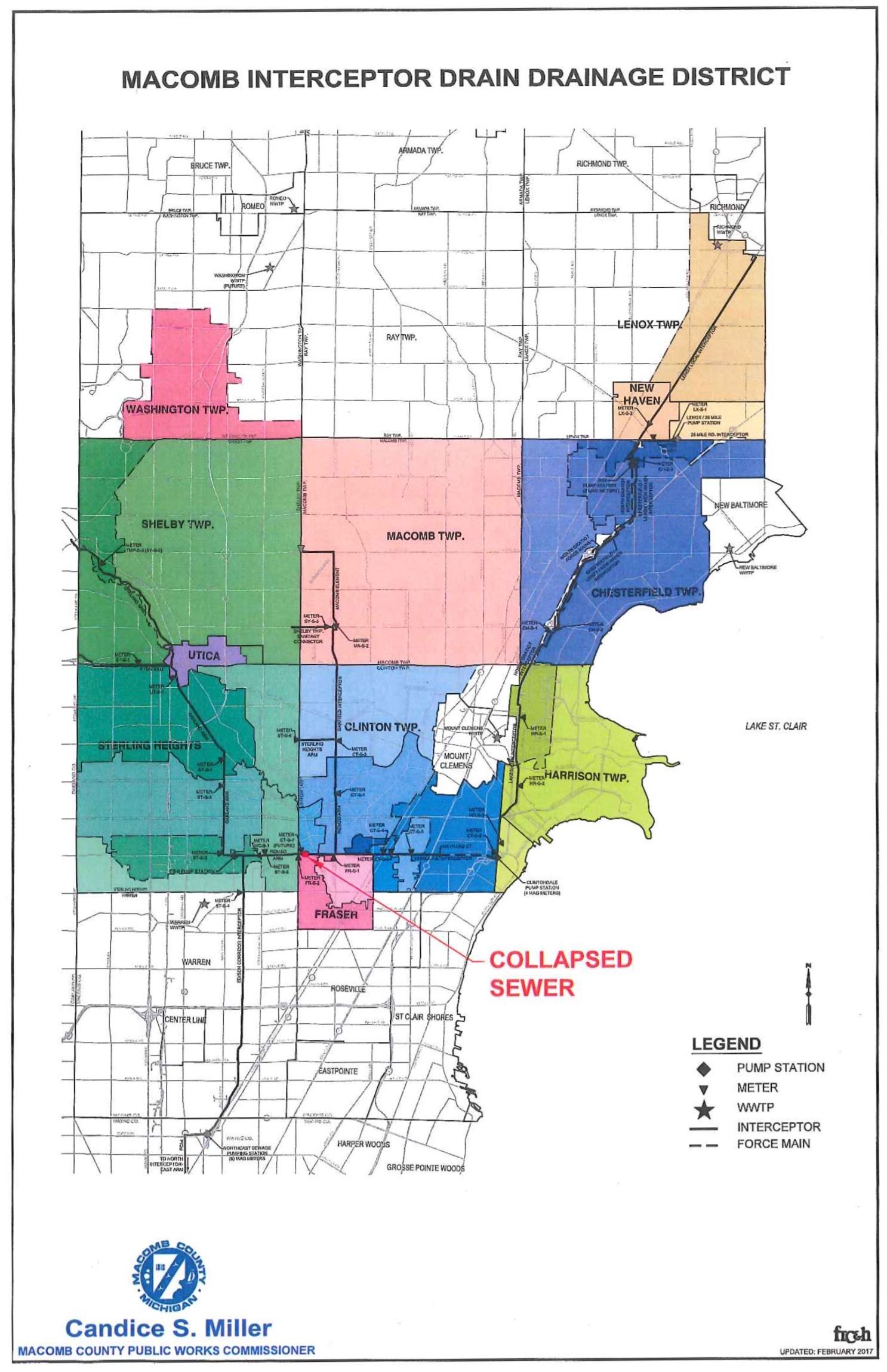 macomb interceptor and sinkhole map. sterling heights mi  official website