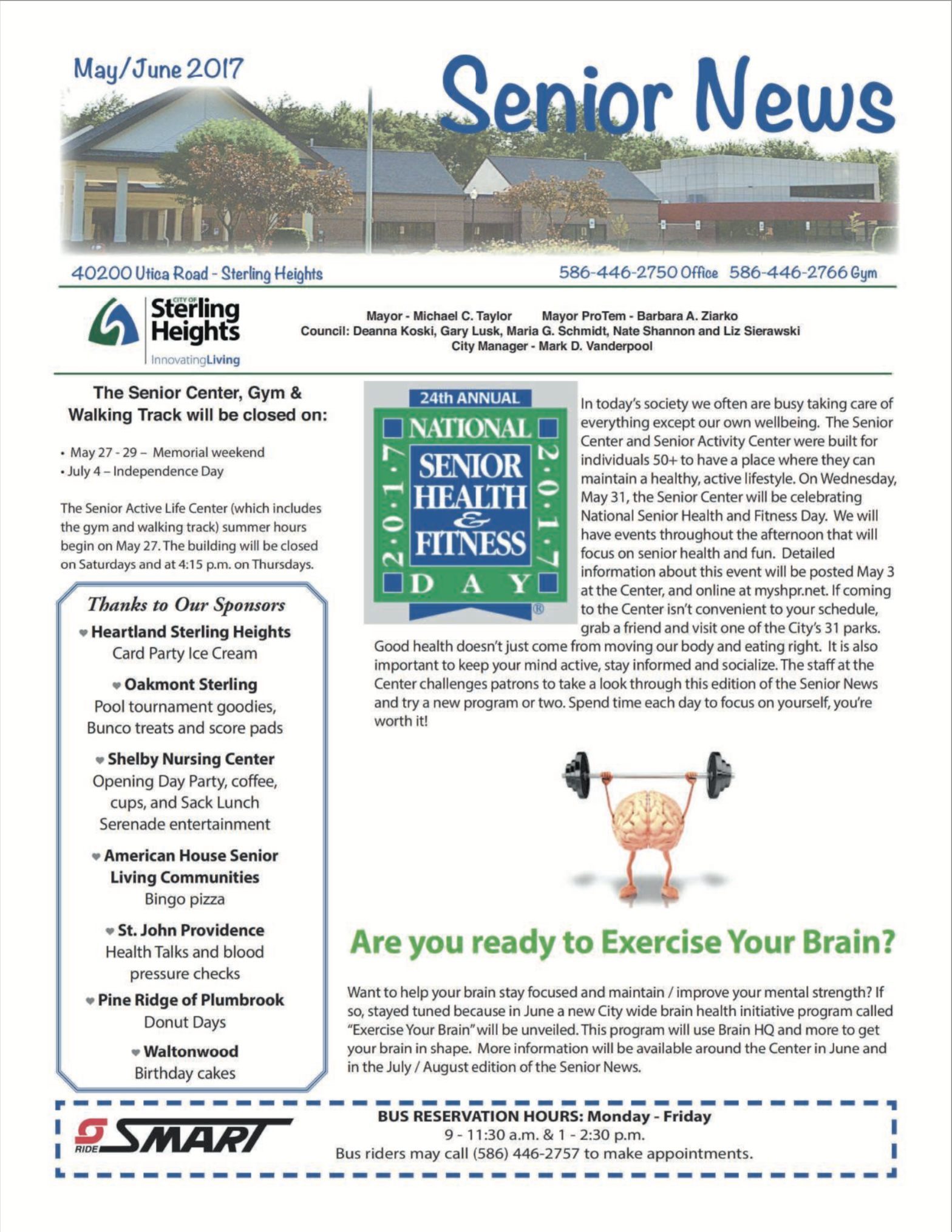 Senior News Letter May/June 2017