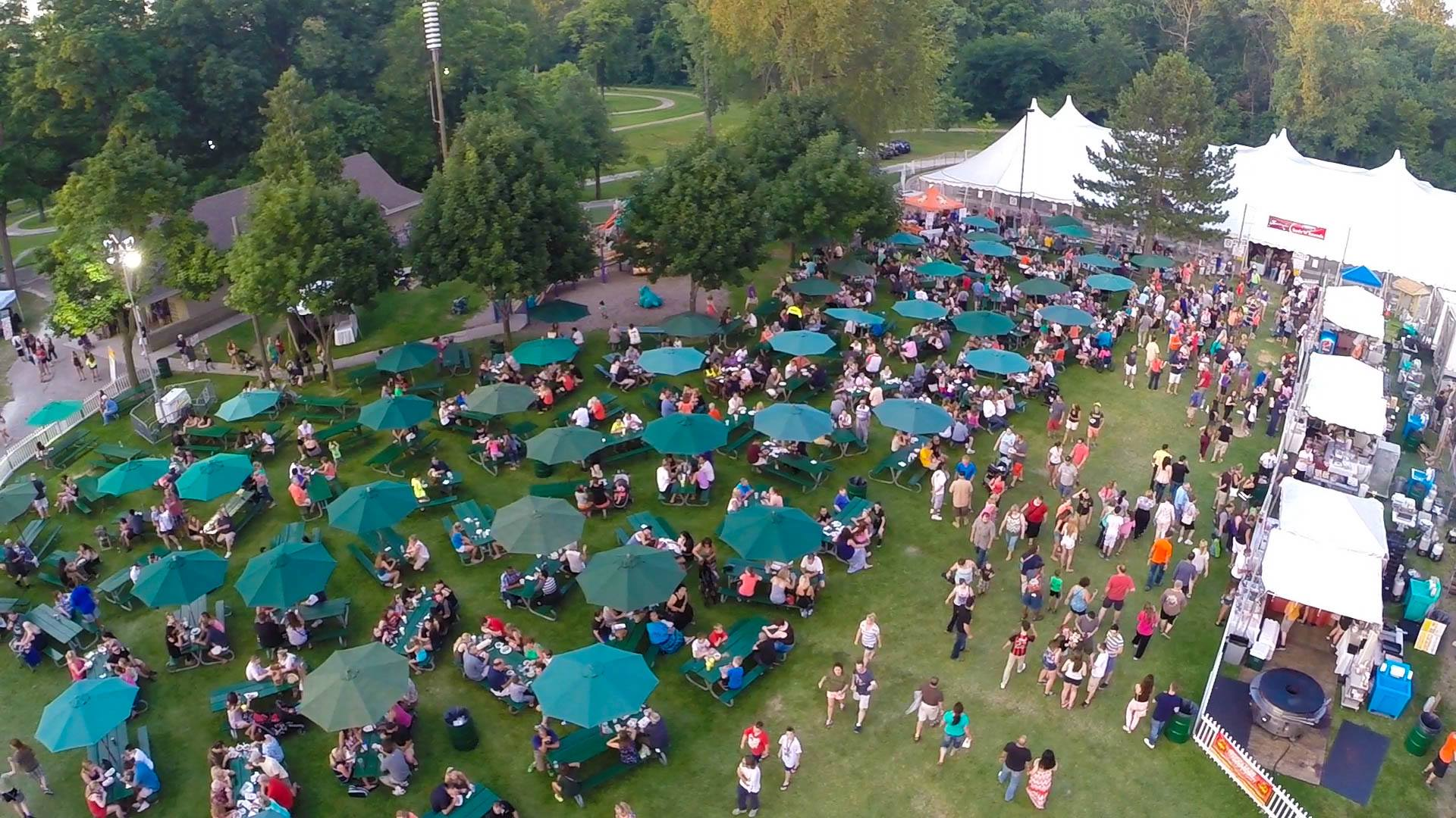 Aerial view of Sterlingfest