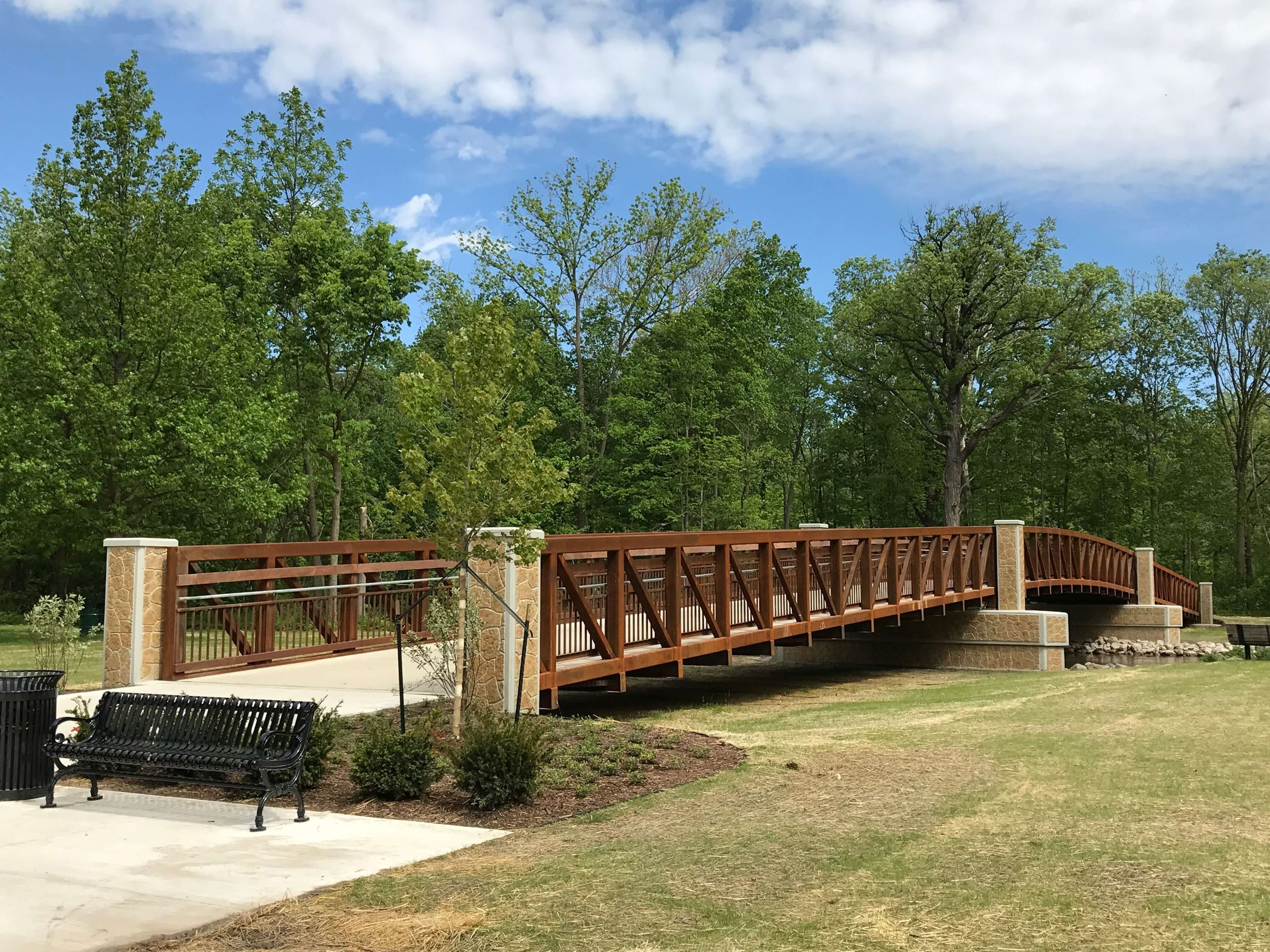 Dodge Park Pedestrian Bridge May 2017