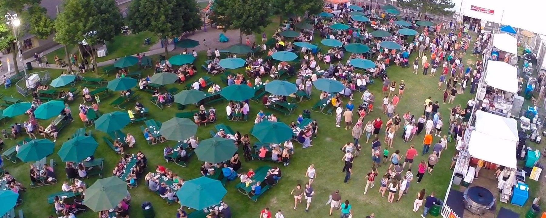 SterlingFest aerial shot