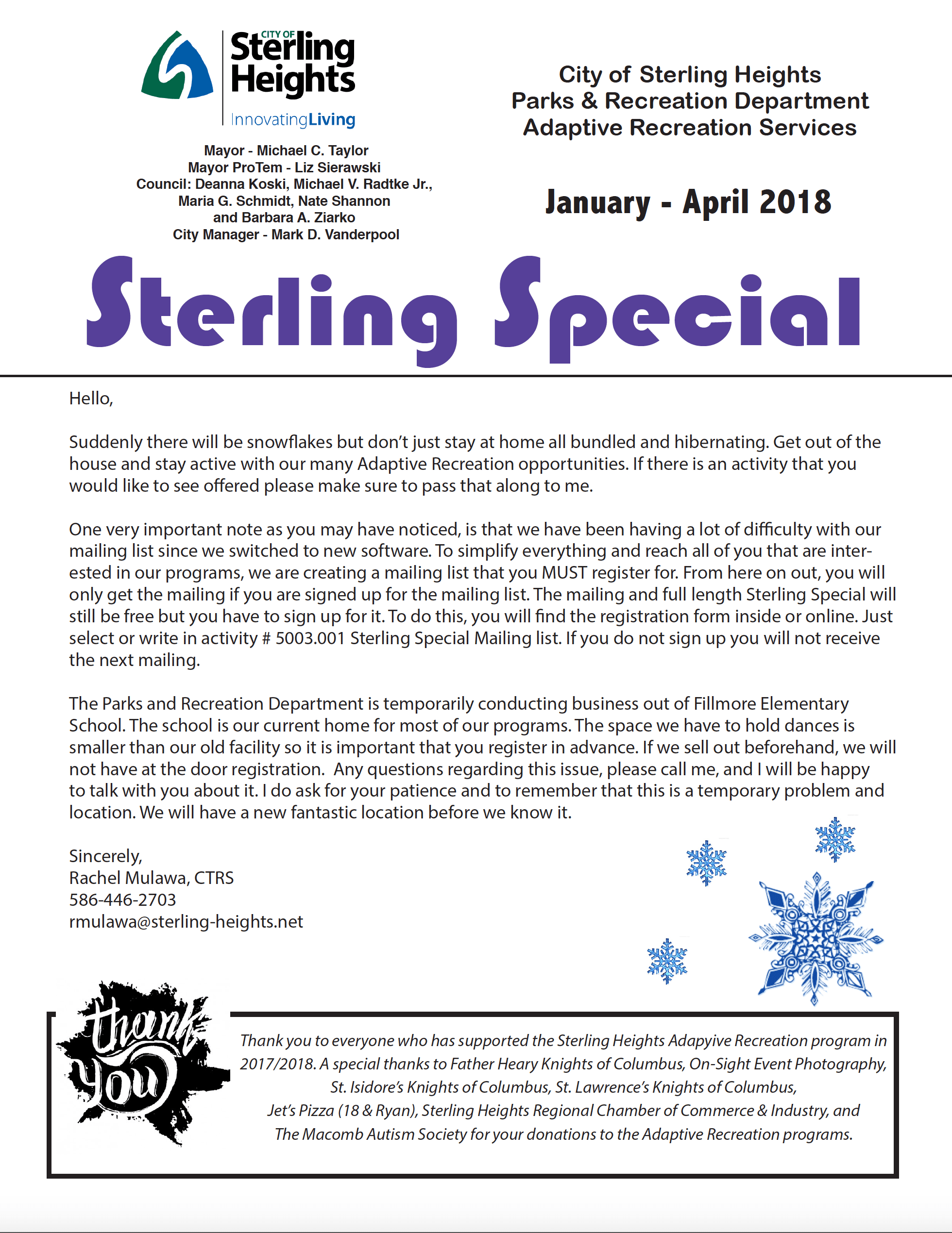 Sterling Special Winter 2018