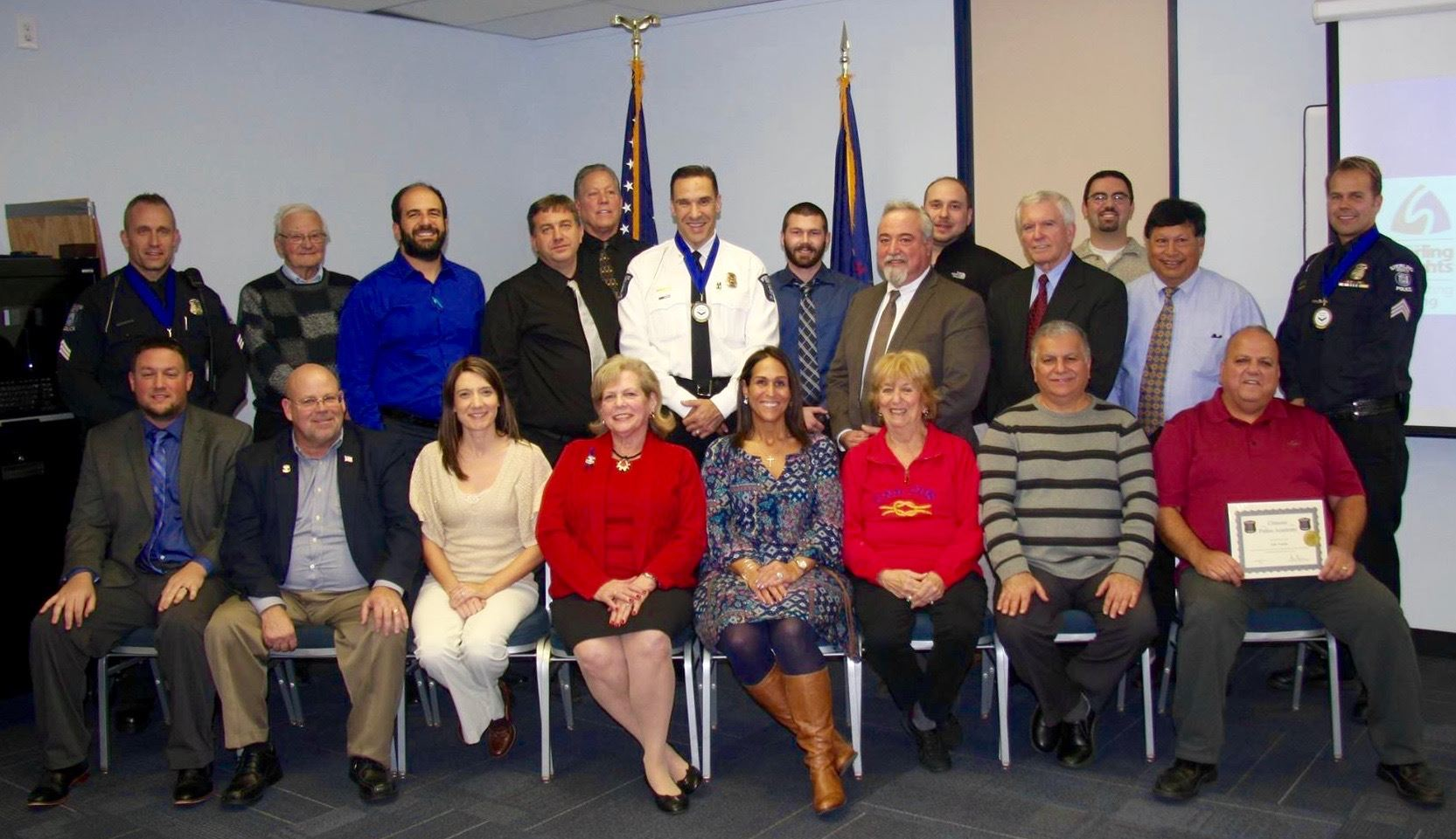Group shot of Citizens Police Academy graduates