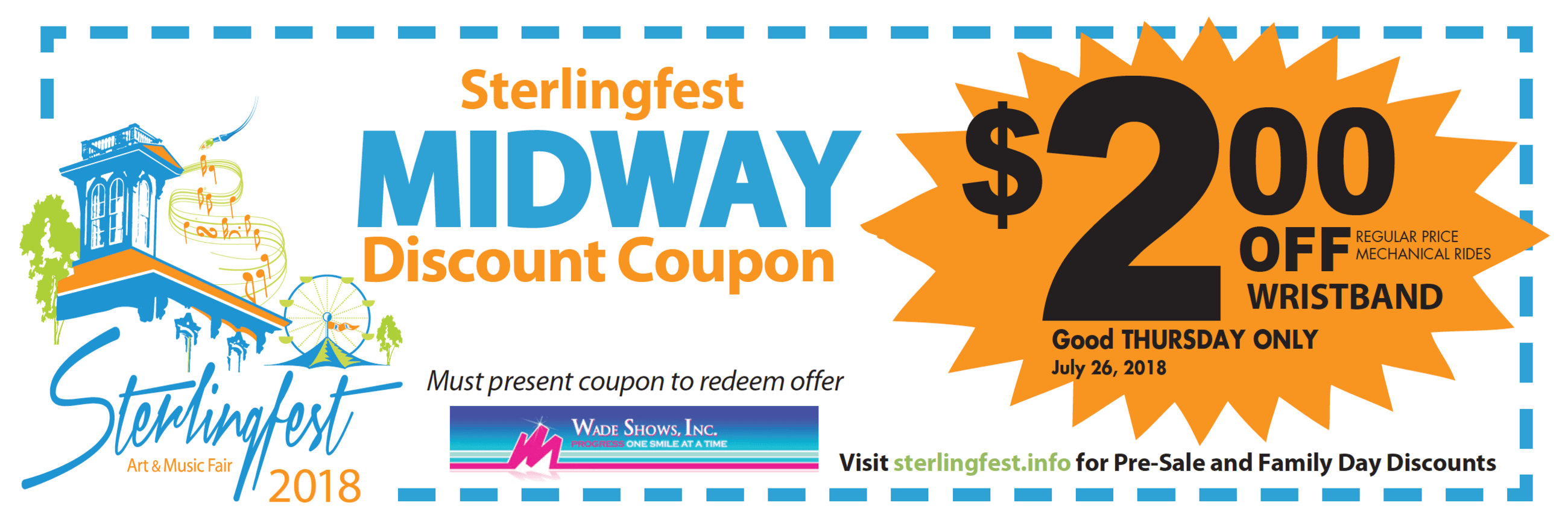 Sterlingfest Midway Coupon 2018
