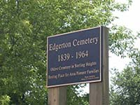 Edgarton Cemetery Sign