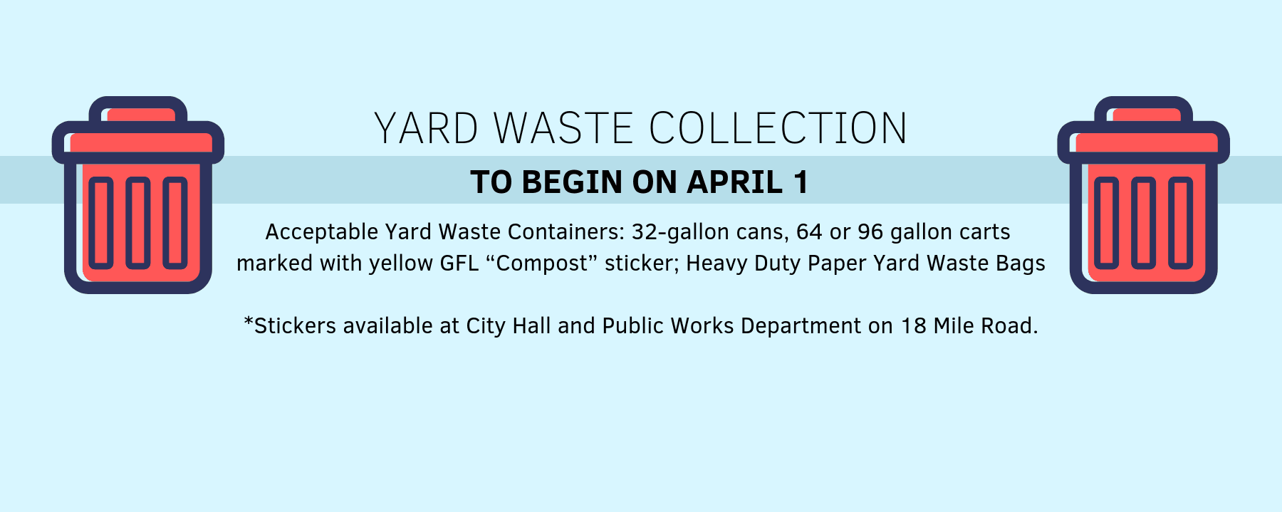 Yard Waste Collection 2019