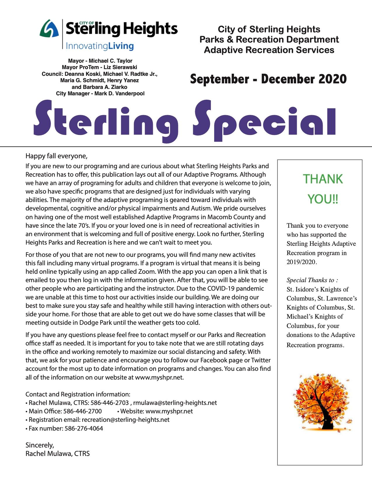 Sterling Special 2020Fall